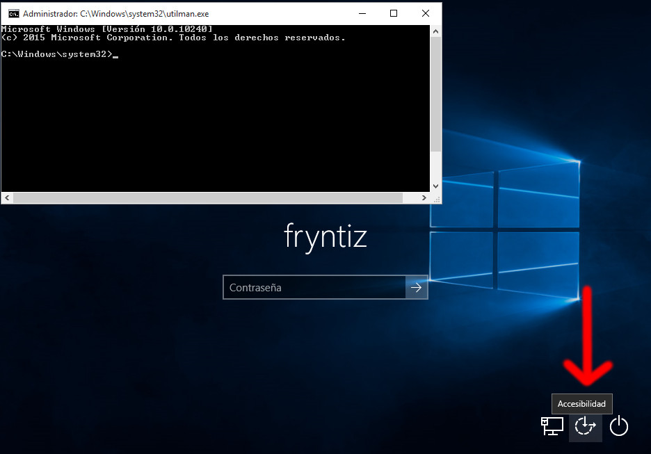 Terminal para quitar la clave de windows 10