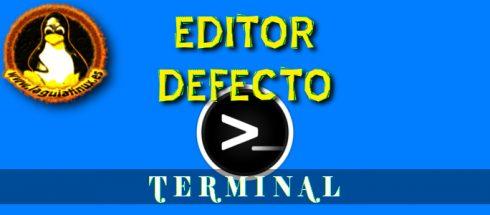 Cambiar editor de texto por defecto para usarlo por la terminal