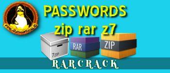 Quitar contraseñas de archivos rar por fuerza bruta con Rarcrack