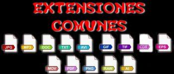 Las extensiones de archivos más comunes