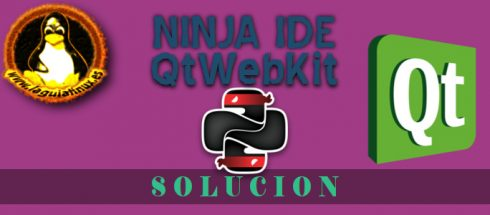 Error al iniciar Ninja IDE en Debian al cargar módulo QtWebKit